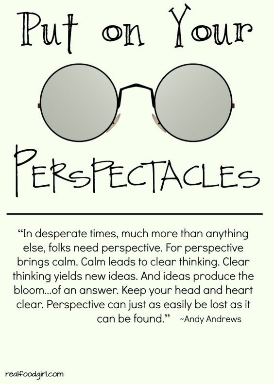 """Put on Your """"Perspectacles"""""""